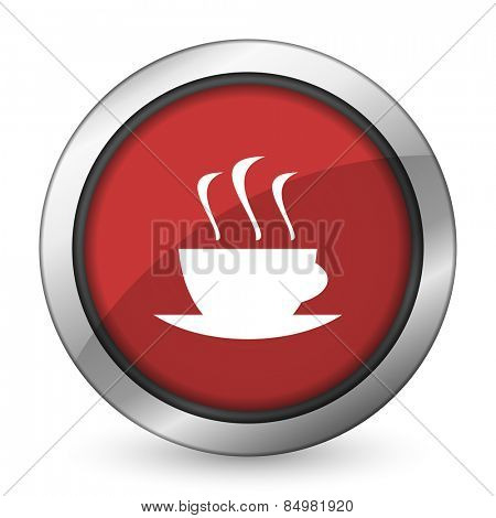 espresso red icon hot cup of caffee sign