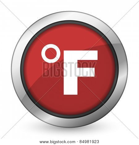 fahrenheit red icon temperature unit sign