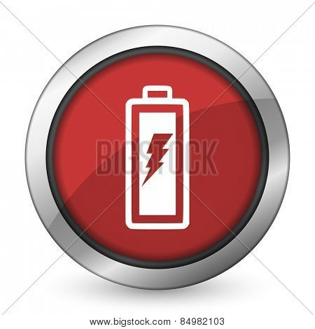 battery red icon power sign