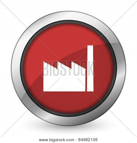 factory red icon industry sign manufacture symbol