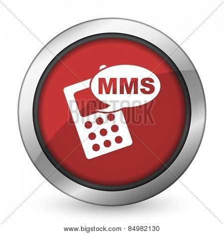 mms red icon phone sign