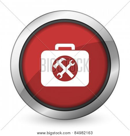 toolkit red icon service sign