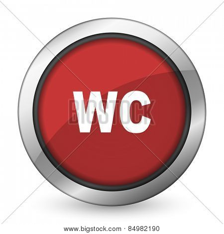 toilet red icon wc sign