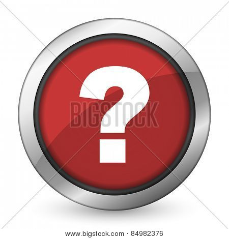 question mark red icon ask sign