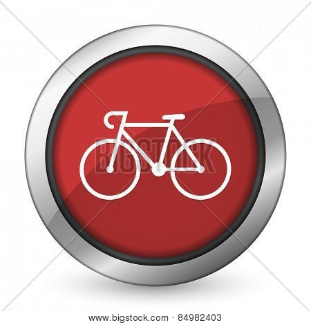 bicycle red icon bike sign