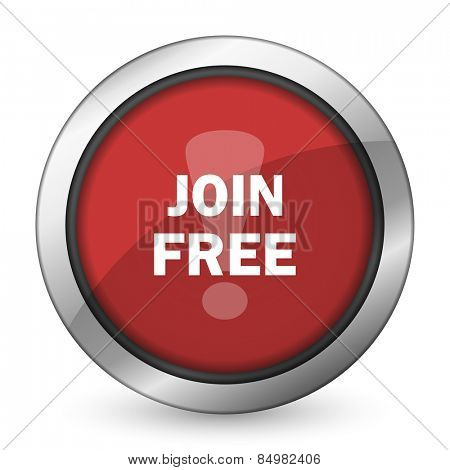 join free red icon
