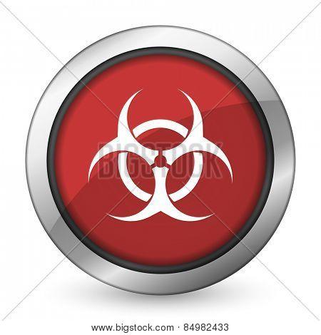 biohazard red icon virus sign