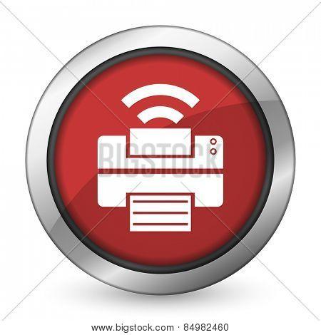 printer red icon wireless print sign