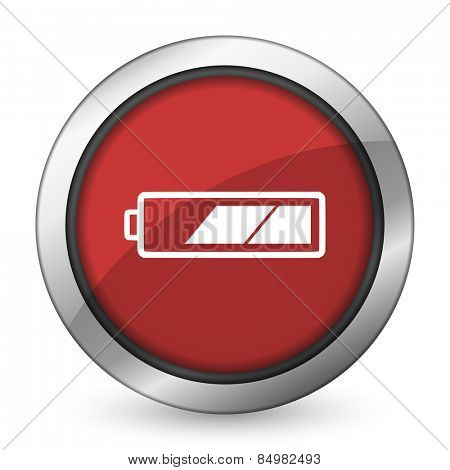 battery red icon charging symbol power sign