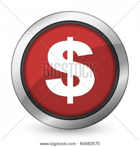 dollar red icon us dollar sign