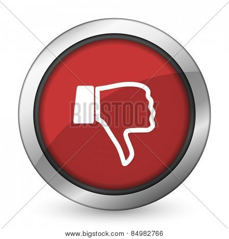 dislike red icon thumb down sign