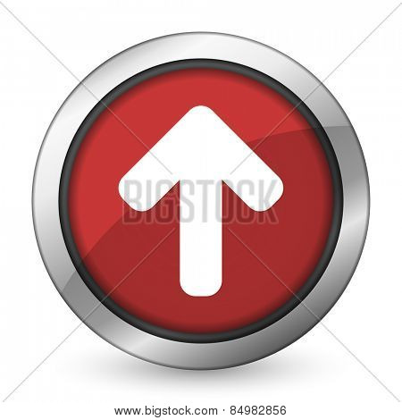 up arrow red icon arrow sign
