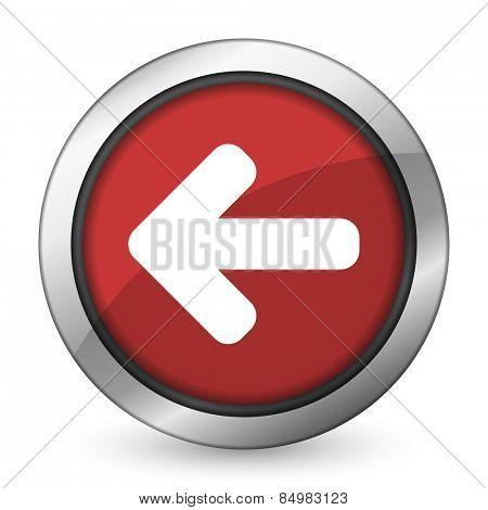 left arrow red icon arrow sign