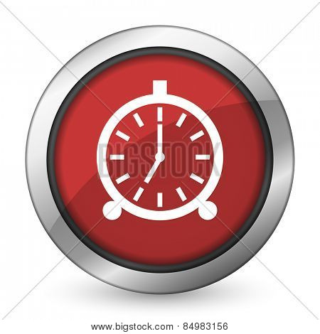 alarm red icon alarm clock sign