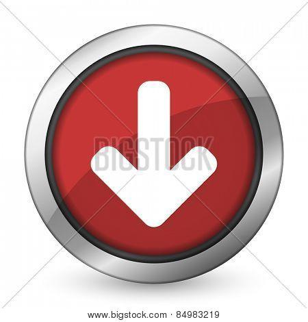download arrow red icon arrow sign