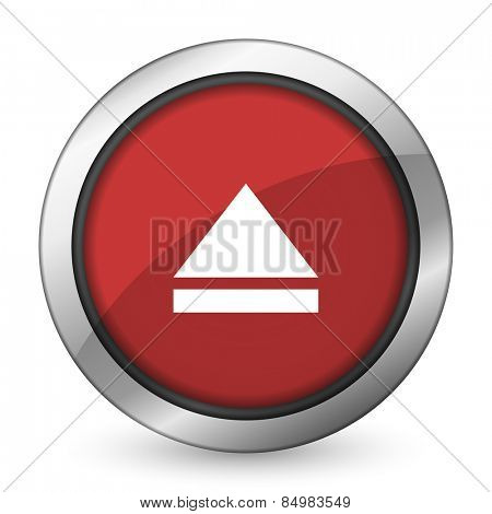 eject red icon open sign