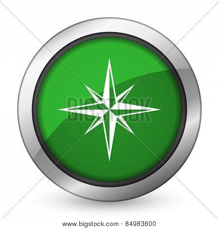 compass green icon