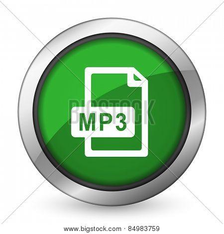 mp3 file green icon
