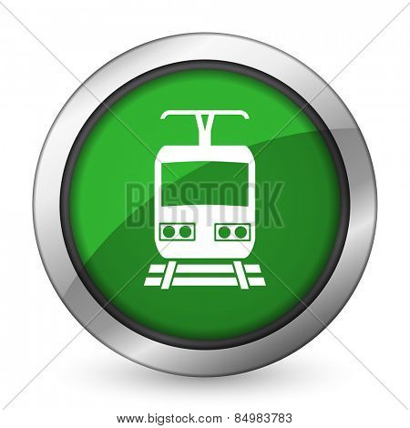 train green icon public transport sign