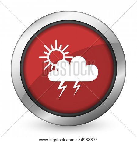 storm red icon waether forecast sign