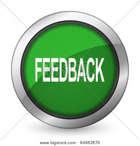 feedback green icon