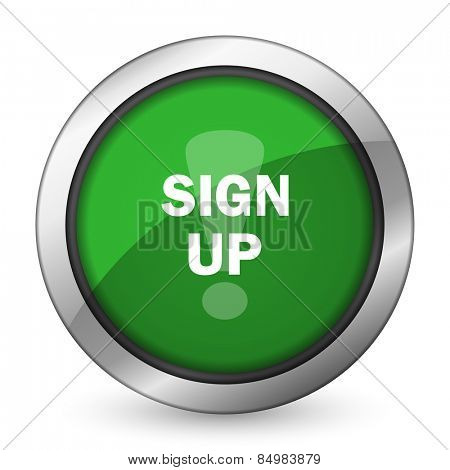 sign up green icon