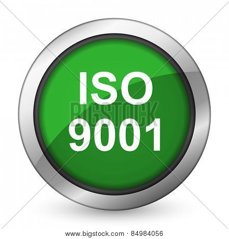 iso 9001 green icon