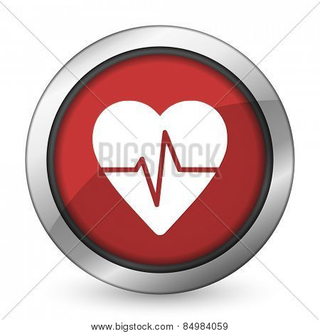 pulse red icon heart rate sign