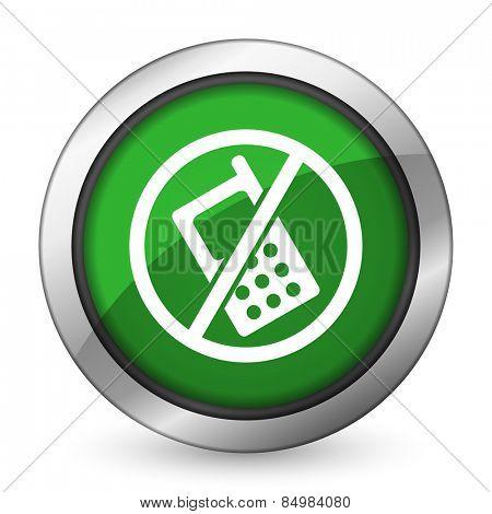 no phone green icon no calls sign