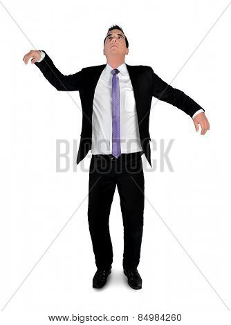 Isolated business man doll concept