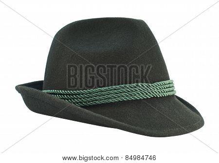 Dark fedora like hat isolated