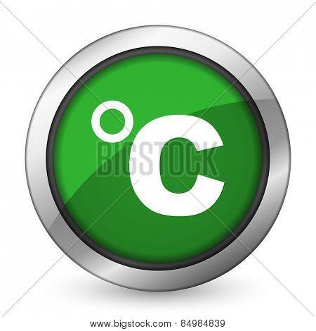 celsius green icon temperature unit sign