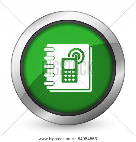 phonebook green icon