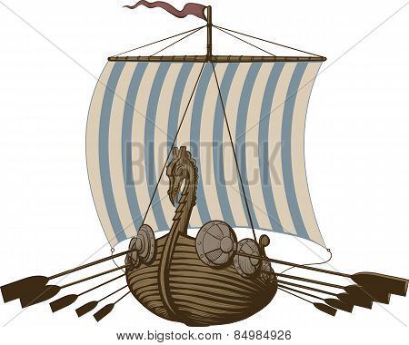 Battle Viking Ship