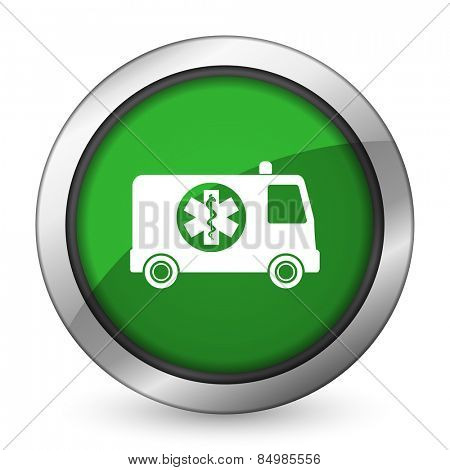 ambulance green icon