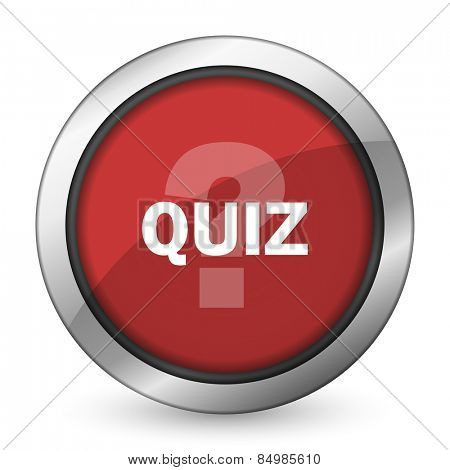 quiz red icon