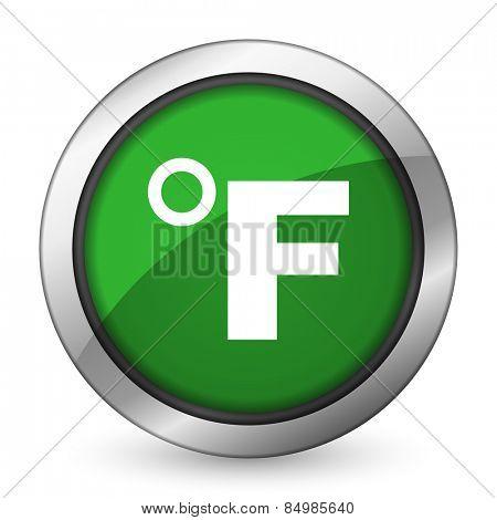 fahrenheit green icon temperature unit sign