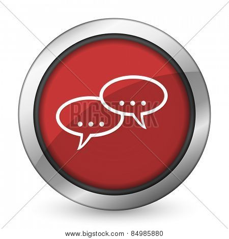 forum red icon chat symbol bubble sign