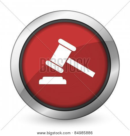 auction red icon court sign verdict symbol