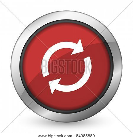 reload red icon refresh sign