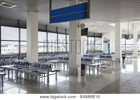 Empty Airport Waiting Hall
