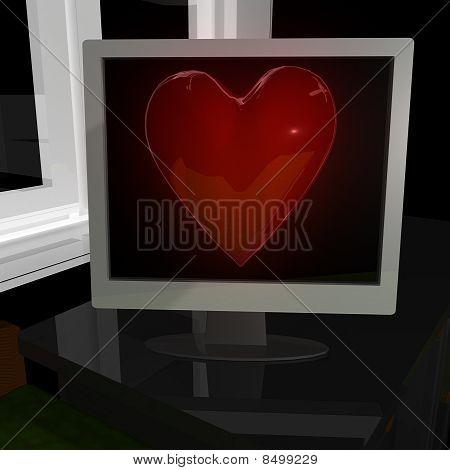 Heart on display
