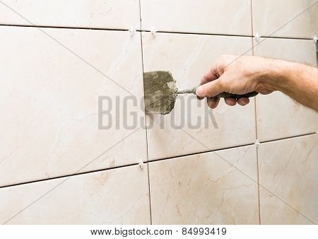 House Renovation - Tiles On Wall
