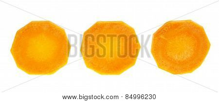 Round slices of carrots