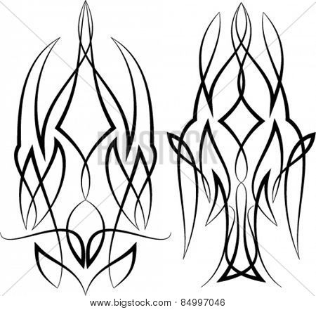 Pinstripe Graphics : Vinyl Ready Vector Art