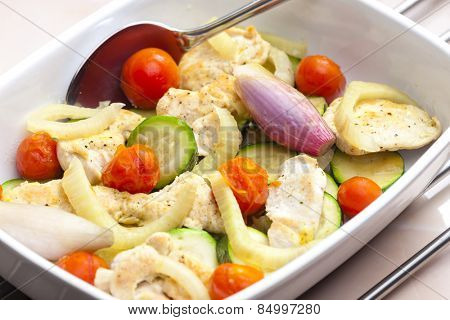 turkey meat with vegetables
