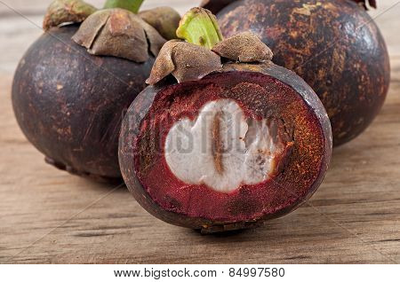 Fresh mangosteen fruit
