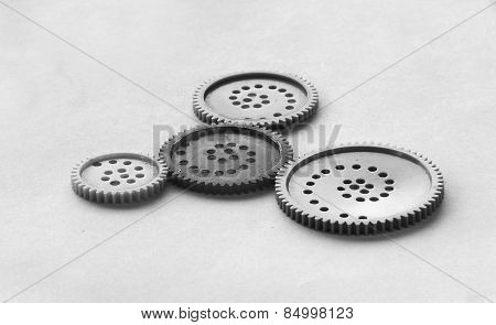 Group Of Gear Wheels