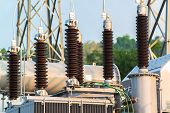 pic of electric station  - Power station for making the electric energy - JPG