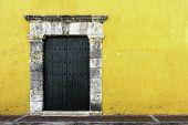pic of hasp  - A facade in the ancient city of cartagena de indias in Colombia - JPG